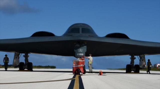 EEUU despliega tres bombarderos estratégicos B-2 Spirit en Guam