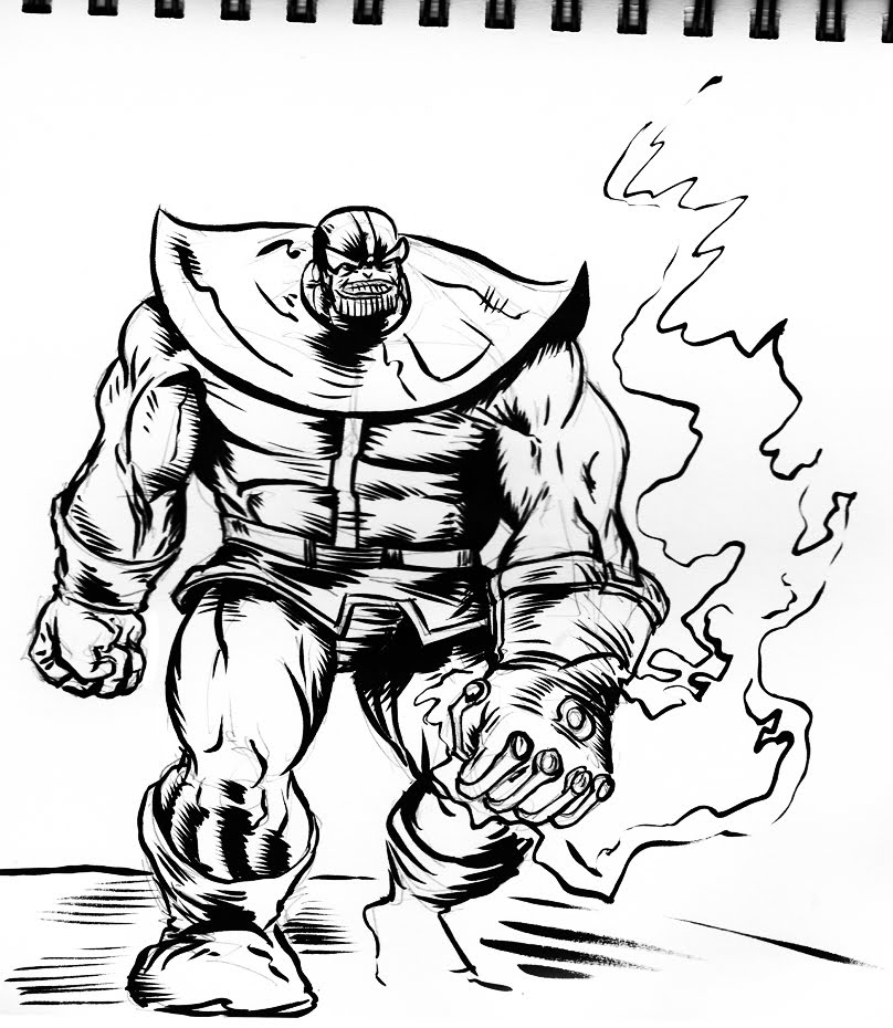 Infinity Gauntlet Coloring Pages Sketch Coloring Page