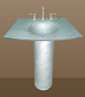 Glass Gobsmacked Glass Pedestal Sinks