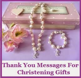 Thank You Messages Christening Baptism
