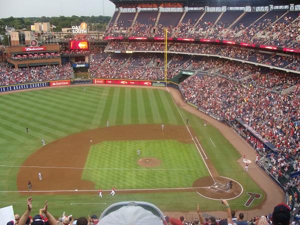 Baseball der Atlanta Braves gegen die Los Angeles Dodgers