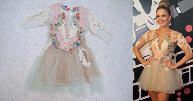 6effa101a Claudia Leitte doa vestido para leilão beneficente de Giovanna Antonelli.