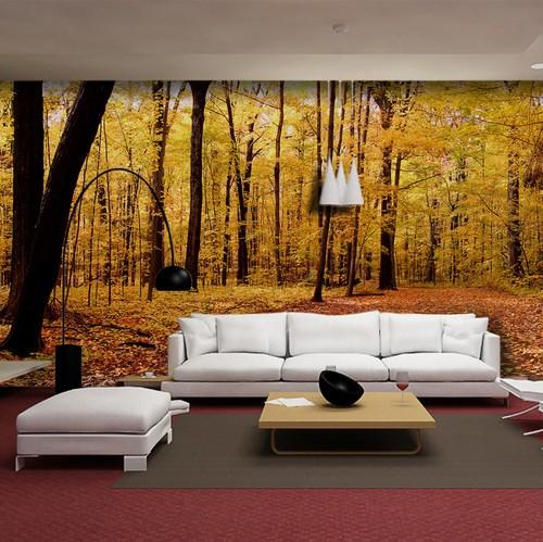 maisematapetti metsä syksy tapetti tausta seinä metsä taustakuva valokuvatapetti olohuone