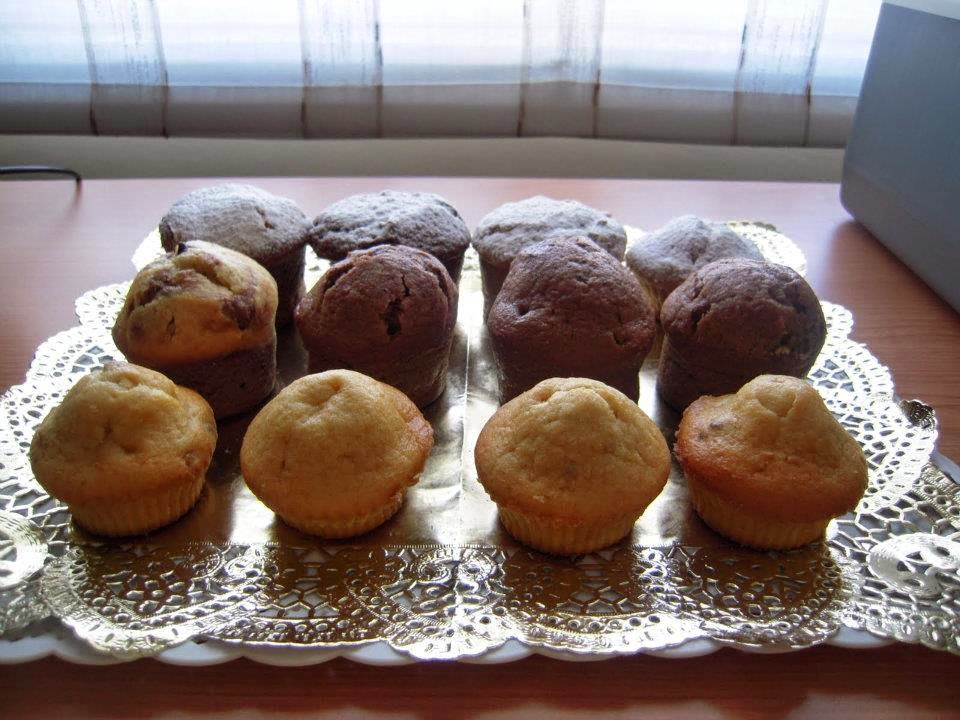 Recette du Muffins au cacao et aux pépites de chocolat