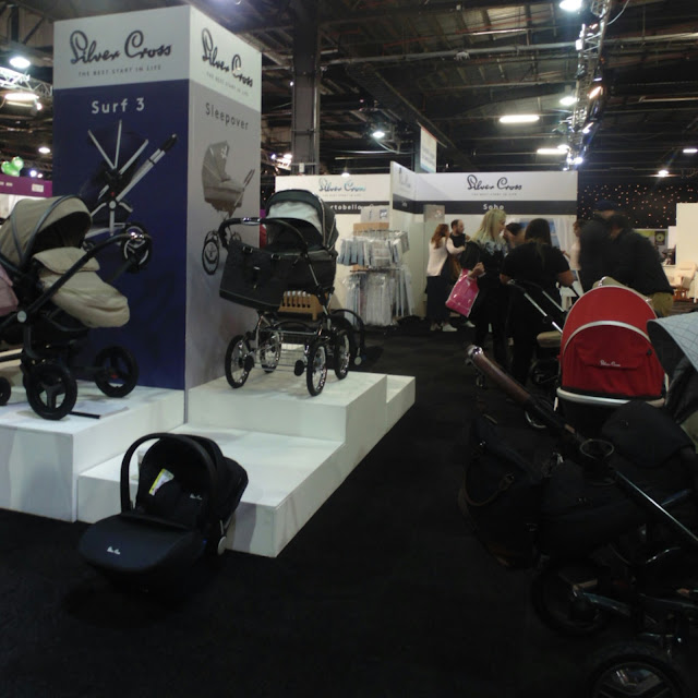 Silver cross at the baby and toddler show Manchester