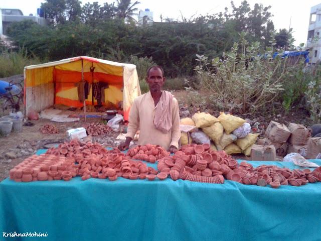 Image: Earthen Diya Stall