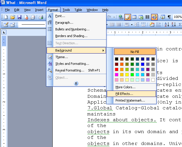 Add Textures To The Background In Msword Microsoft Office Support