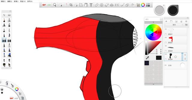 Sketchbook Pro 快速設計表現技法教學5