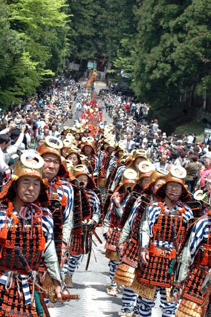 Autumn Festival (parade dressed in full samurai regalia) at Toshogu Shrine, Tochigi