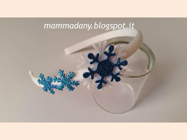 Cerchietti per capelli Frozen 2 con fiocco blu e bianco