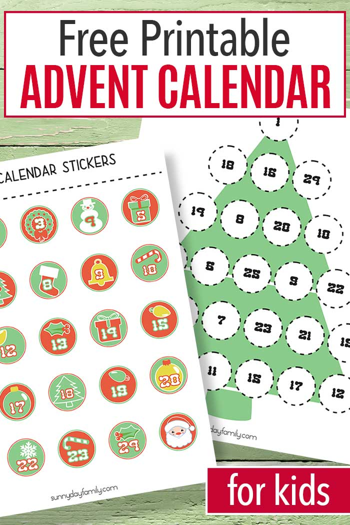 Help kids countdown to Christmas with this free printable advent calendar! Match the numbers to decorate the tree, and when it's done Christmas will be here. Such a fun number matching activity and Christmas countdown in one! #adventcalendar #Christmasprintables #Christmasforkids