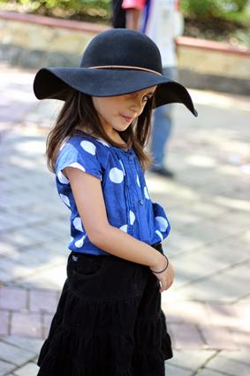 Mid Skirt and Polka Dot Top