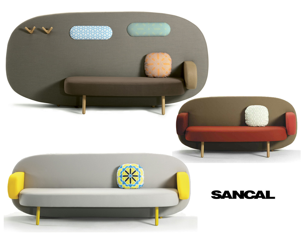 The FLOAT Sofa Designed By Karim Rashid For Spainu0027s Sancal Was Introduced  At This Yearu0027s Salone Del Mobile And Combines An Upholstered Screen Like  Back With ...