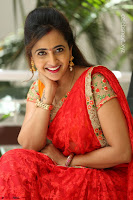 Lasya Cute Beauty in Saree Backless Choli at her Interview ~  Exclusive 016.JPG