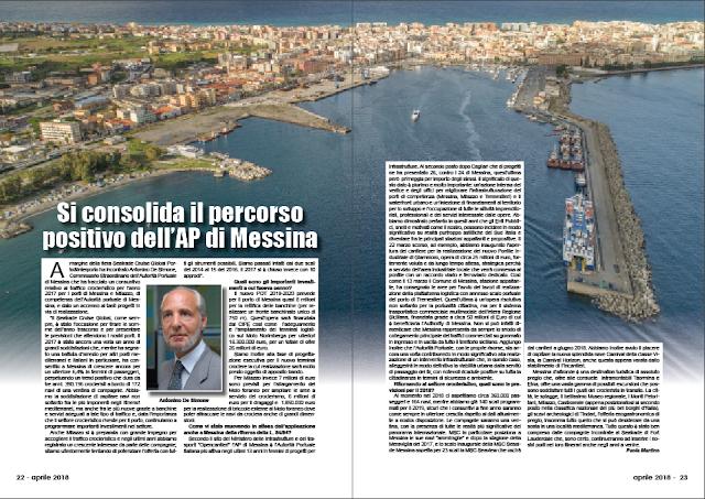 APRILE 2018 PAG. 22 - Si consolida il percorso positivo dell'AP di Messina
