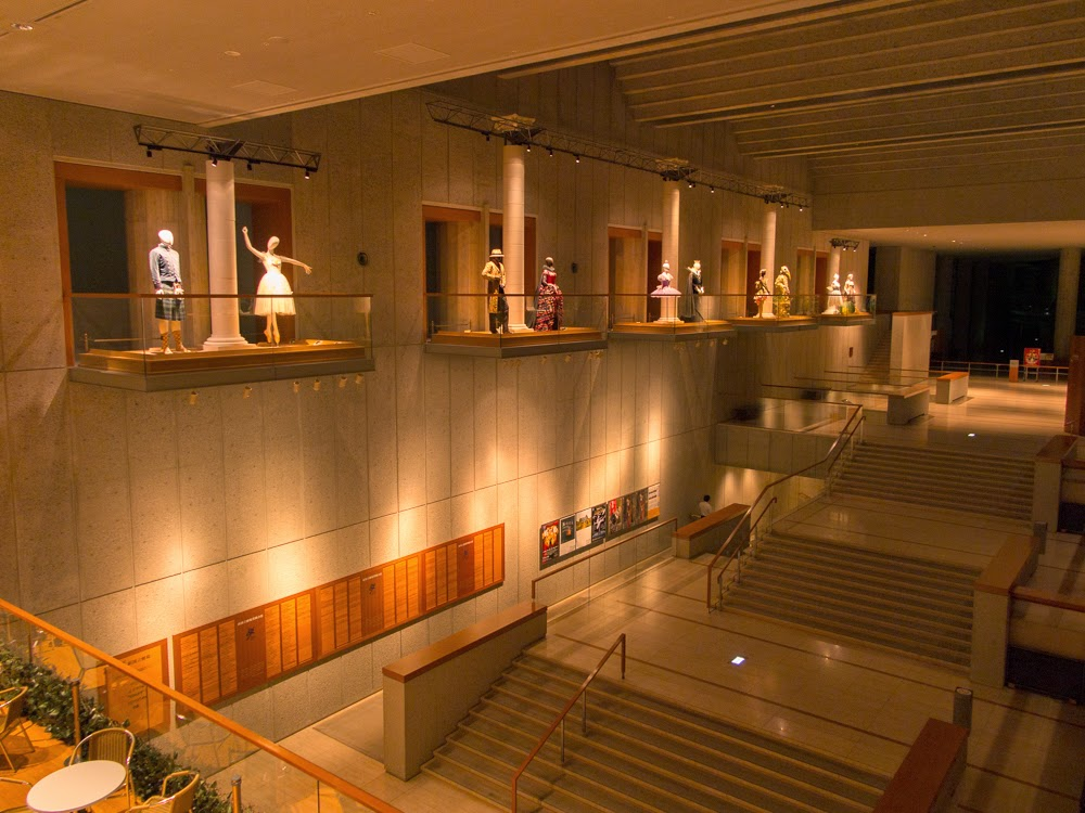 A foyer of the New National Theatre, Tokyo.