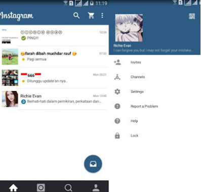 Download BBM Mod Theme Instagram 2.13.1.14