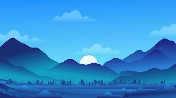 Mountain, Landscape, Scenery, Minimalist, 4K, #6.2183