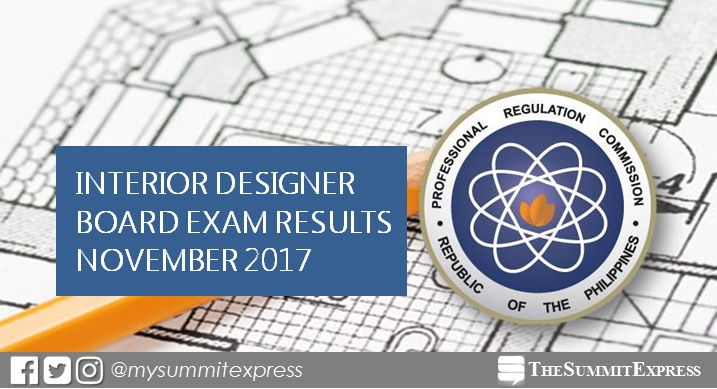 November 2017 Interior Designer board exam passers list, top 10