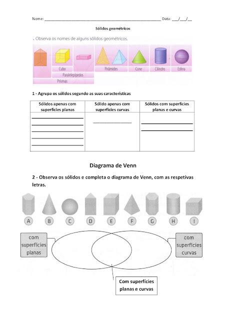 DIAGRAMA DE VENN EXERCÍCIOS
