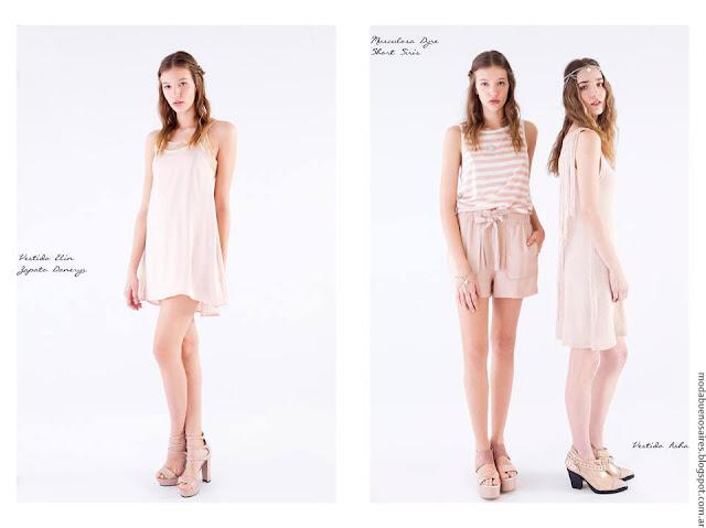 Ropa de moda mujer primavera verano 2017 vestidos, faldas, monos y shorts La Cofradía.