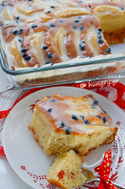 Christmas Apple Cake with Yogurt Glaze