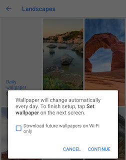 Download wallpapers over mobile data