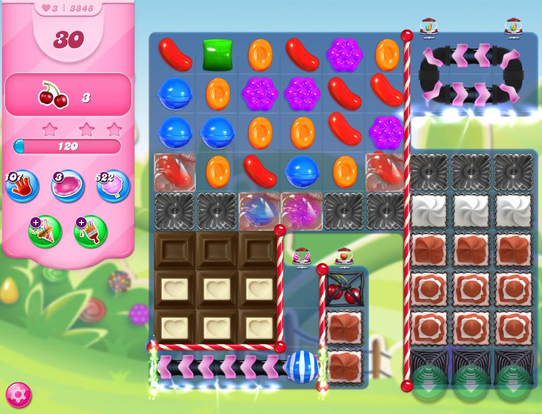 Candy Crush Saga level 3848