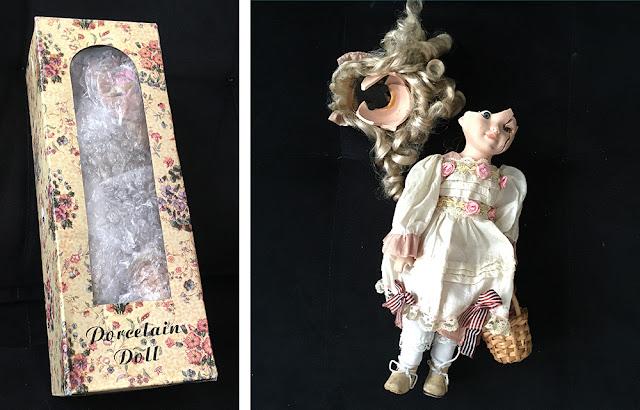 boneca de porcelana quebrada que recebemos
