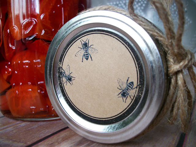 honey bee canning label
