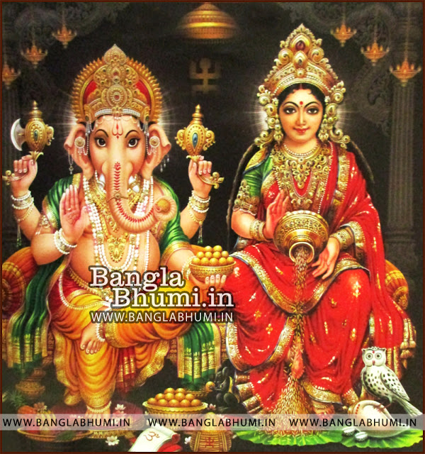 Lord Ganesha and Mata Laxmi India God HD Poster Wallpaper