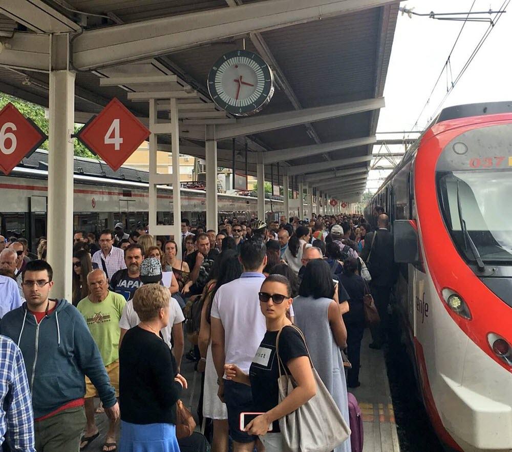Andén en Alcalá, una de las paradas más afectadas