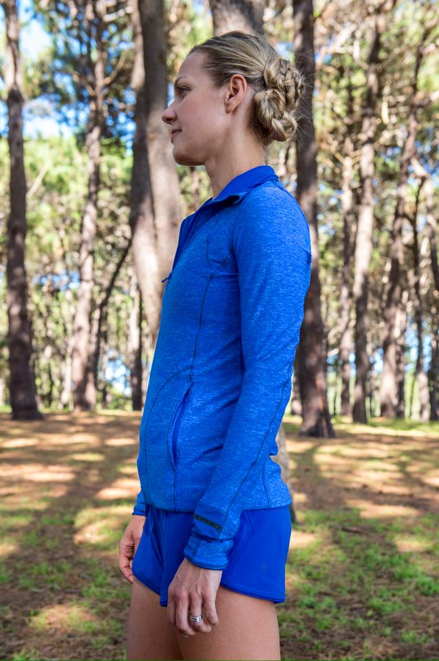 lululemon seek-the-heat-short pace-pusher-half-zip harbor-blue