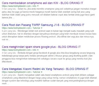 Tips agar artikel blog mudah terindex google
