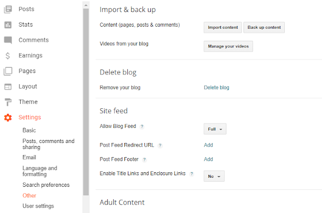 Cara membackup data blog di blogspot