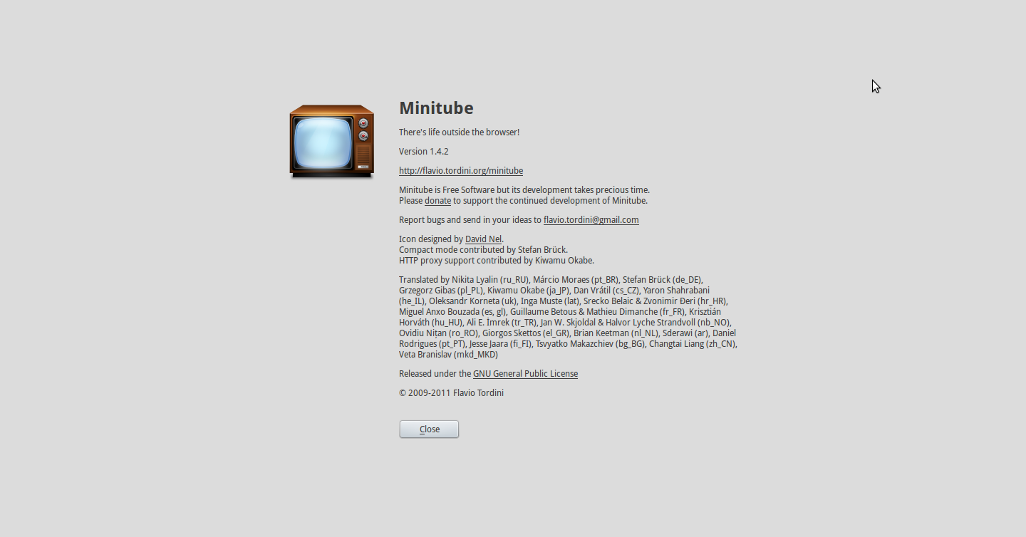 My Sys Admin Diaries : Minitube - a flash free desktop