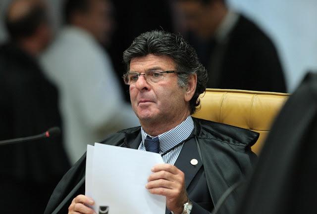O ministro Luiz Fux, durante sessão no Supremo Tribunal Federal (Foto: Carlos Moura/STF)