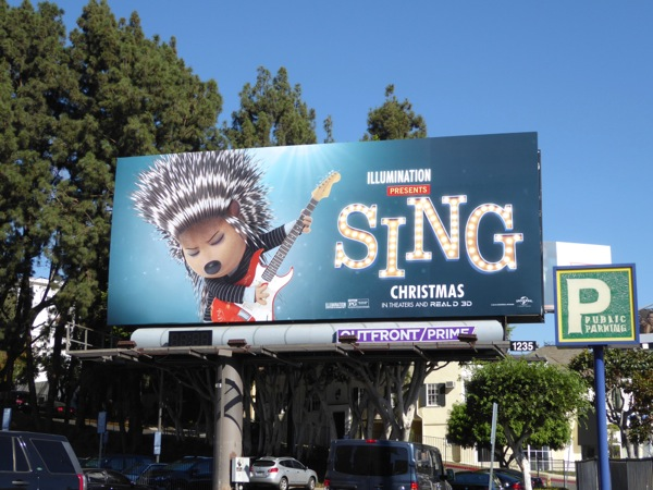 Ash Porcupine Sing movie billboard