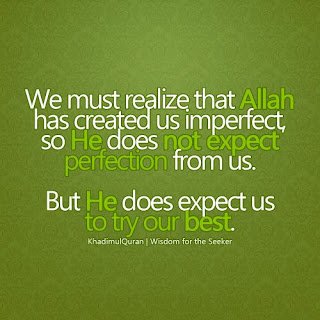 Allah has created us imperfect islamic quotes with images