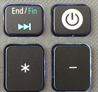 End and power buttons of laptop