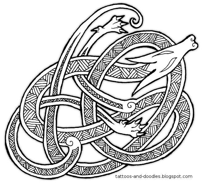 Tattoos And Doodles Knot A Dragon