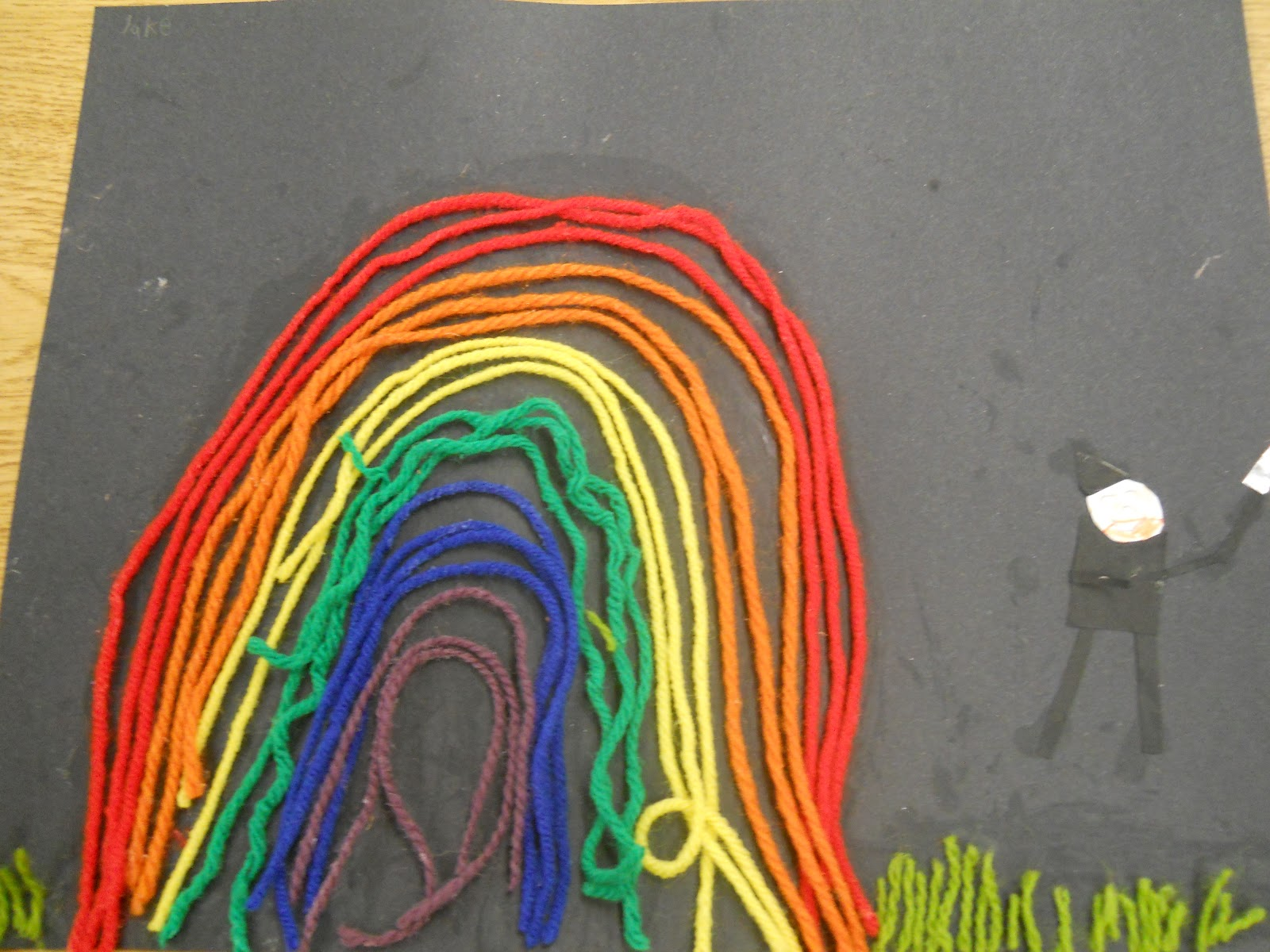 Mrs Pierce S Polka Dot Spot Roygbiv Yarn Painting