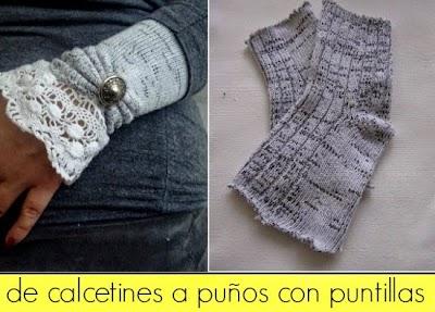 Como hacer Puños Victorianos con Calcetines