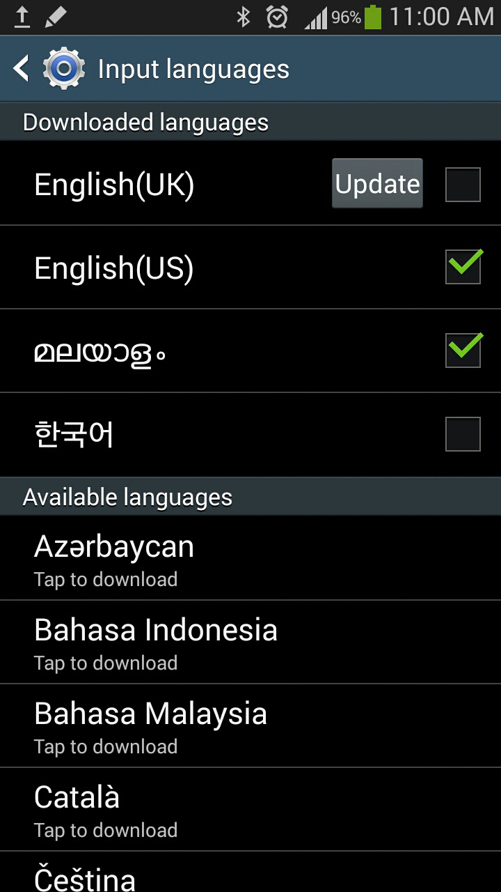 How to type tamil in android phone