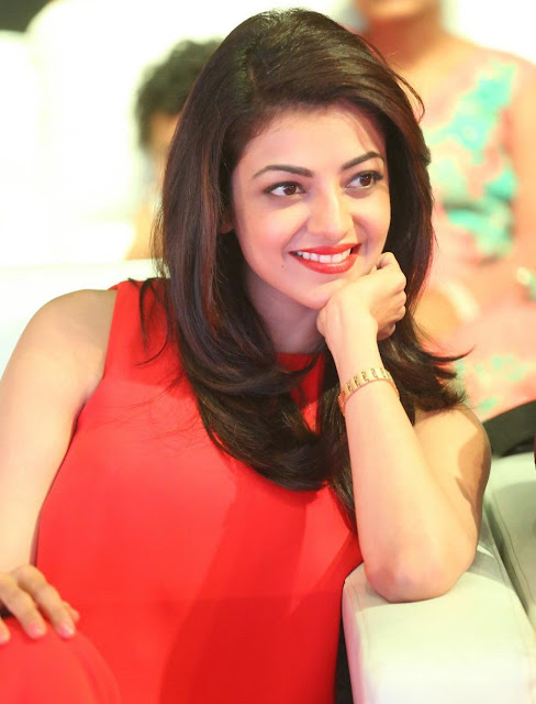 Kajal Aggarwal Looks Super Sexy In Red Dress At Telugu Film 'Oopiri' Audio Launch Event At Novotel Hotel in Hyderabad