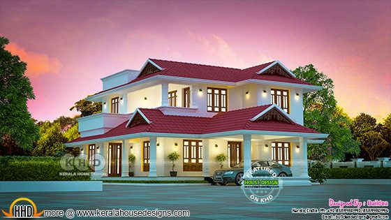 Beautiful Kerala house design 2130 square feet