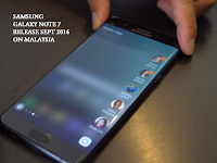 Samsung Galaxy Note 7 dilancarkan September 2016