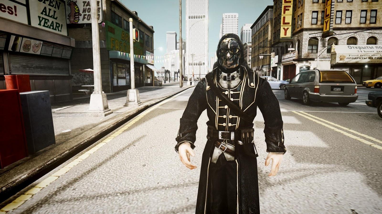 GTA 5,GTAV,GTA IV Mods and Skins: Dishonored Corvo Attano