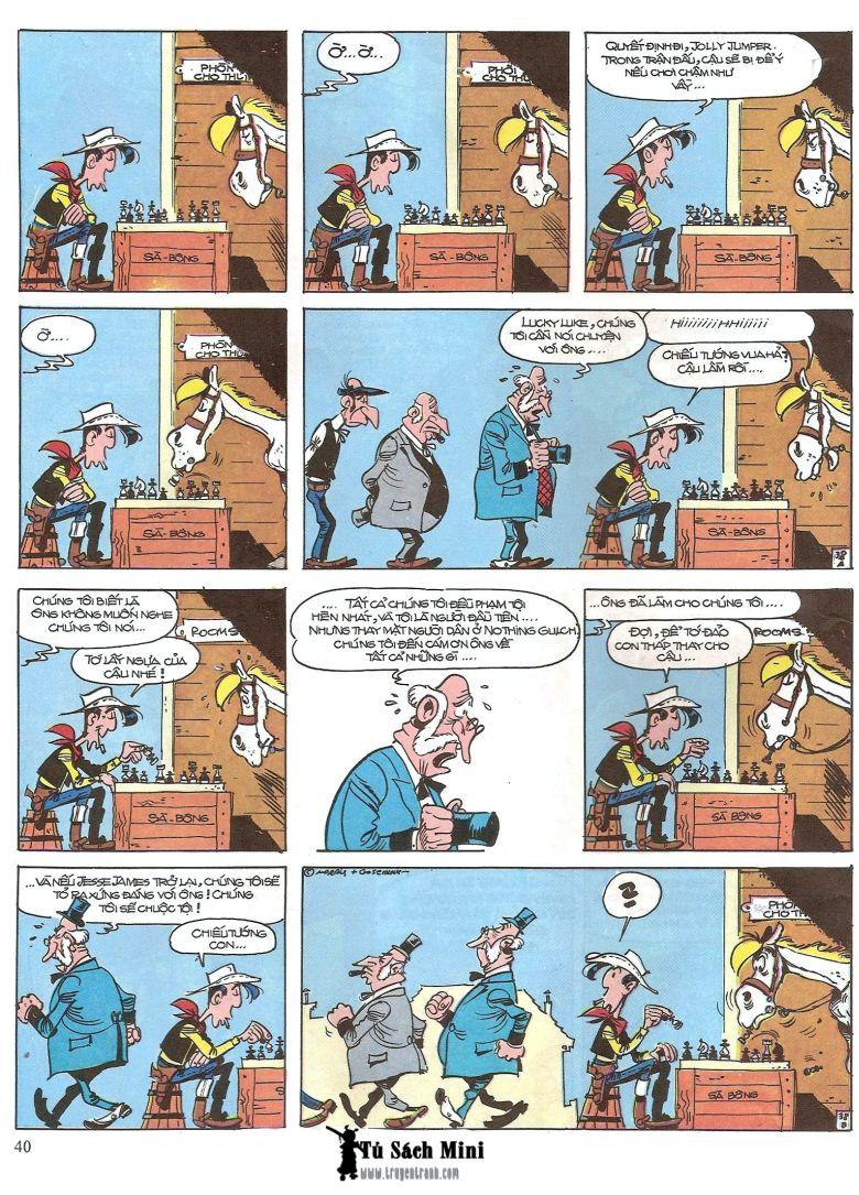 Lucky Luke tap 16 - jesse james hiep si rung xanh trang 42