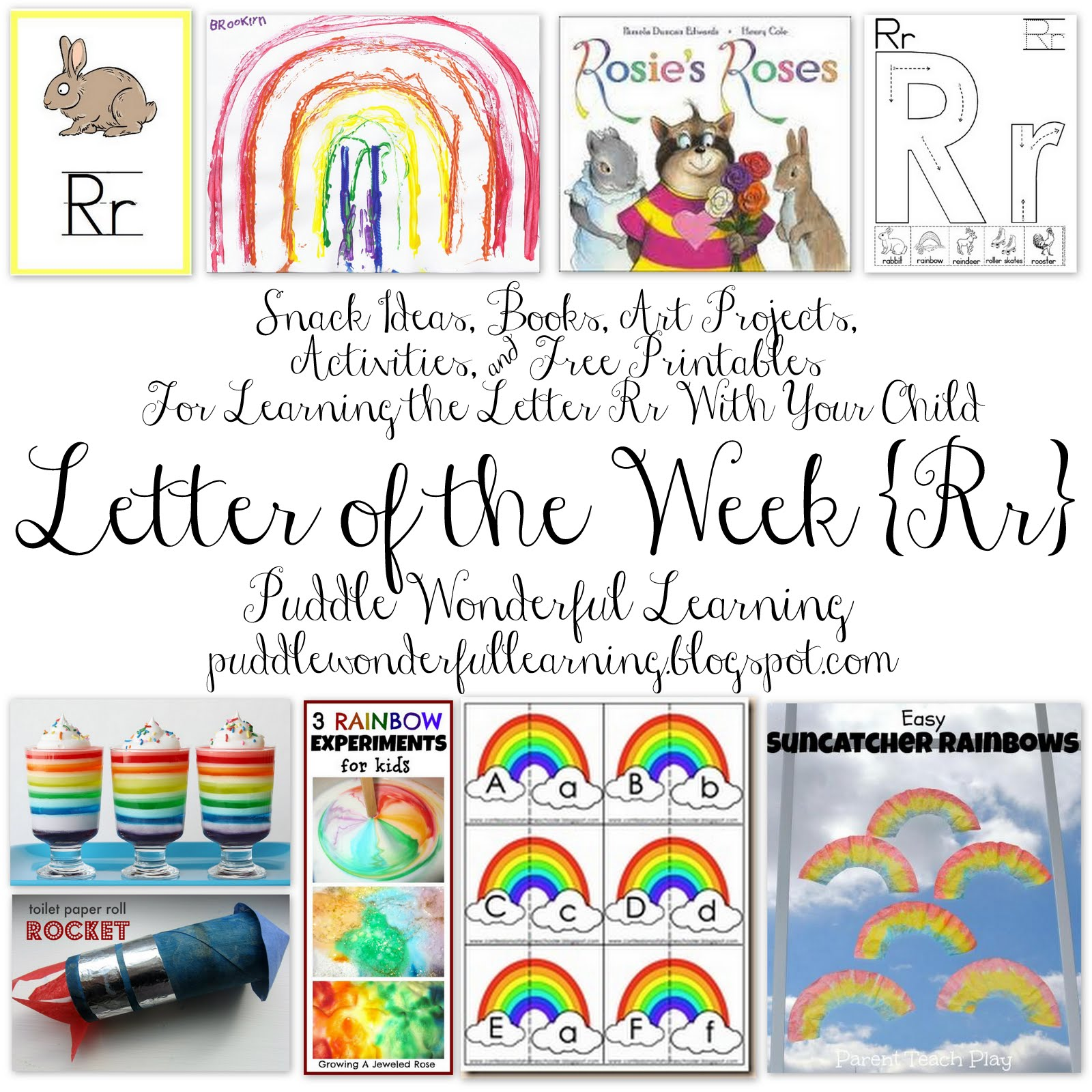Puddle Wonderful Learning Preschool Activities Letter Of The Week Rr